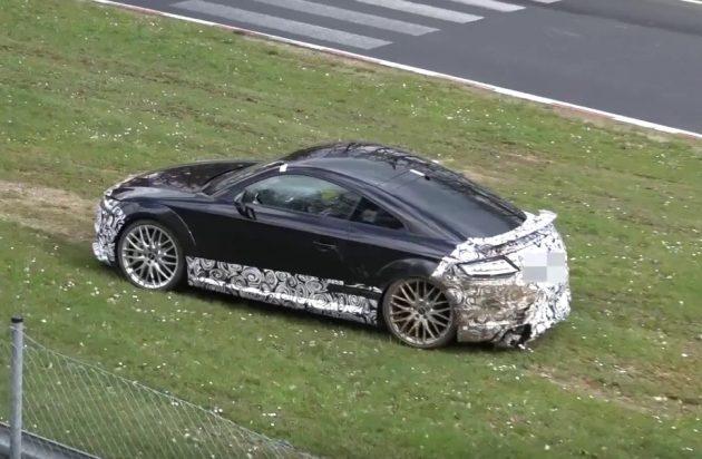 2017 Audi TT RS prototype crash