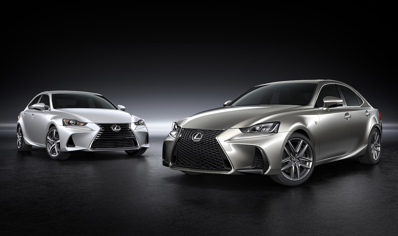 The facelifted, 2017 Lexus IS sedan has been unveiled at