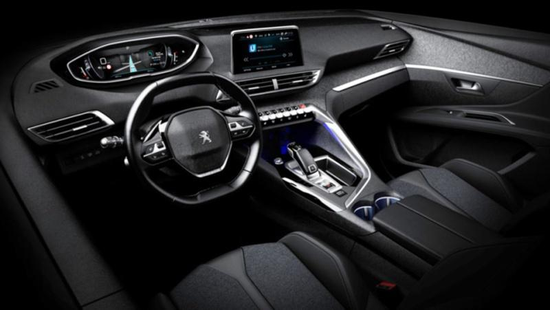 2017 peugeot 3008 interior revealed in leaked images performancedrive. Black Bedroom Furniture Sets. Home Design Ideas