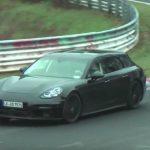 2017 Porsche Panamera 'sport turismo' wagon spotted (video)