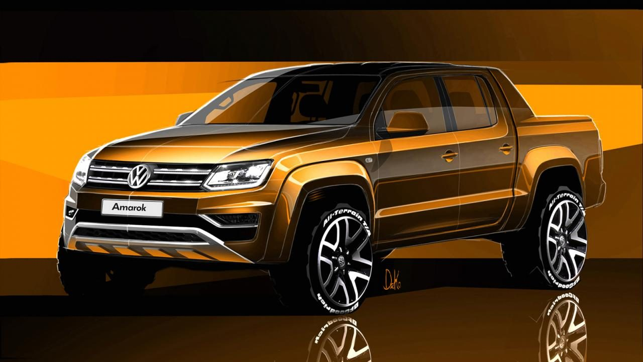 2017 volkswagen amarok facelift previewed performancedrive. Black Bedroom Furniture Sets. Home Design Ideas