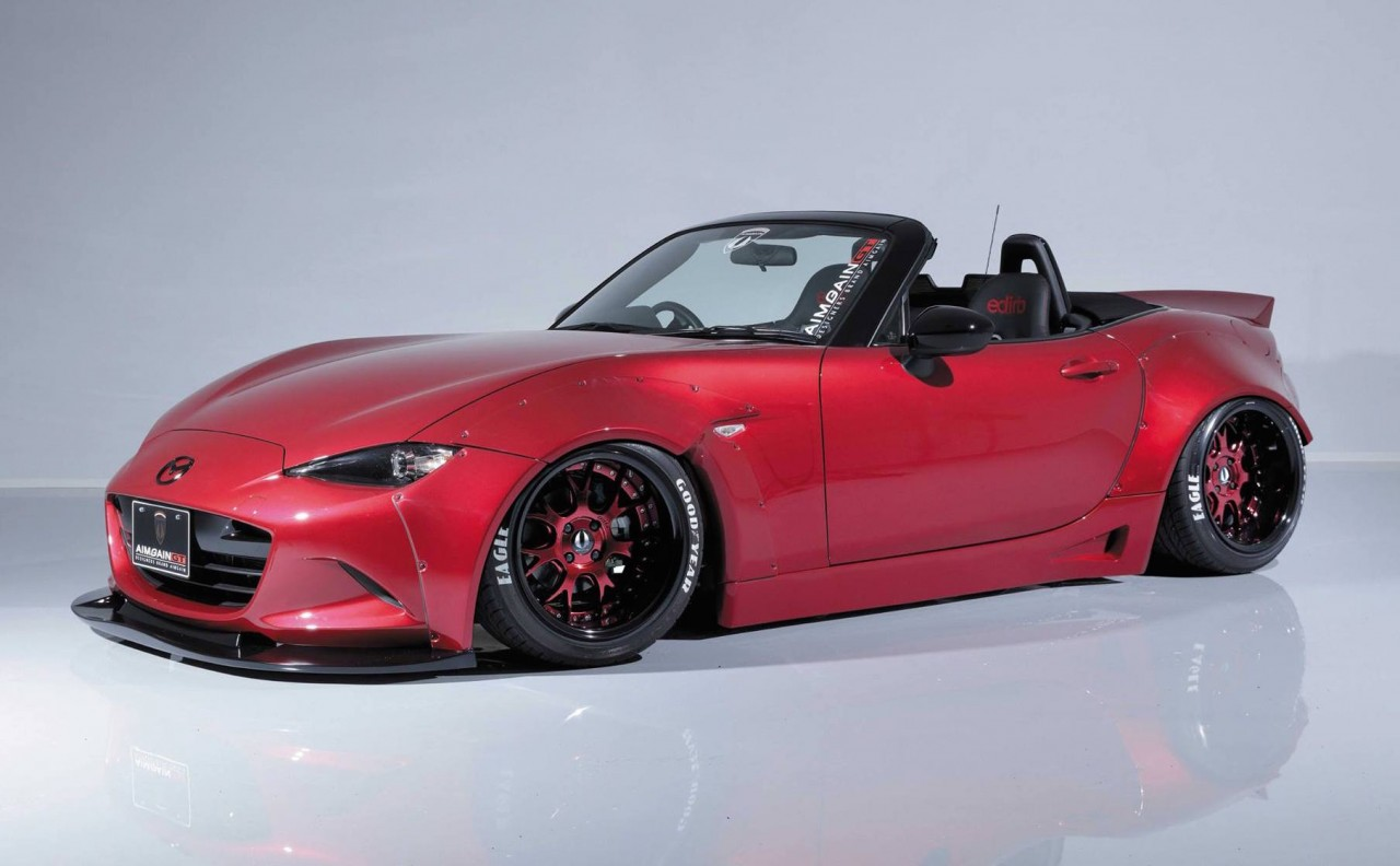 aimgain gives new mazda mx 5 old school wide body styling upgrade performancedrive. Black Bedroom Furniture Sets. Home Design Ideas