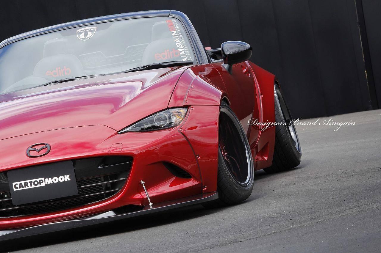 Aimgain Gives New Mazda Mx 5 Old School Wide Body Styling Upgrade Performancedrive