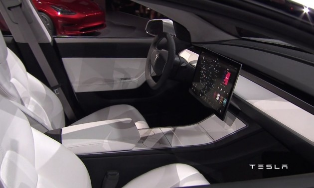 Tesla Model 3-seats