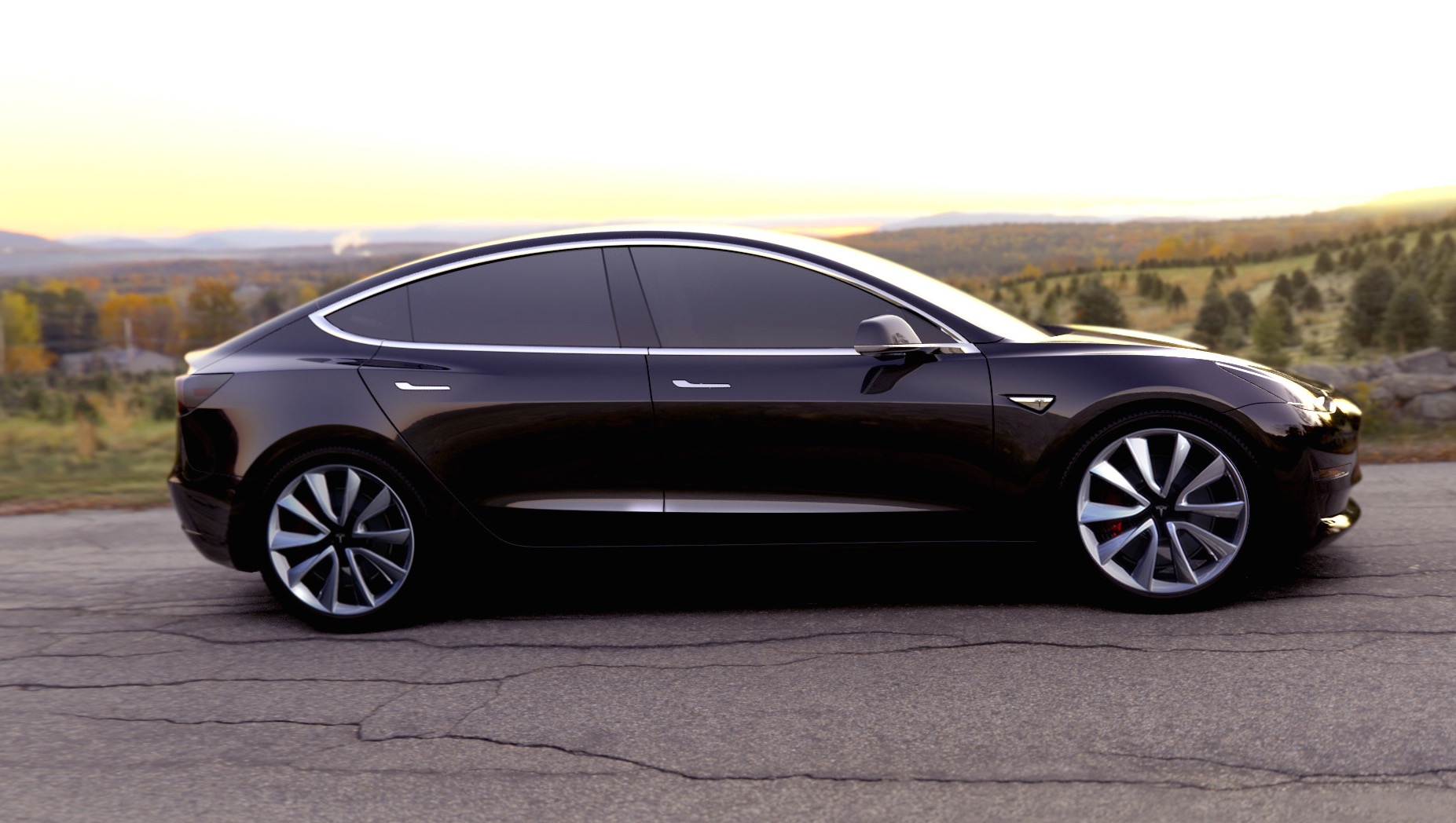 tesla model 3 officially revealed performancedrive. Black Bedroom Furniture Sets. Home Design Ideas