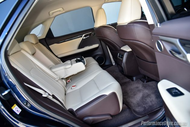 2016 Lexus RX 200t-rear seats
