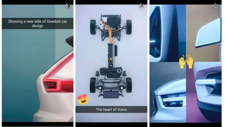 More Volvo XC40 teasers released via Snapchat, hybrid confirmed