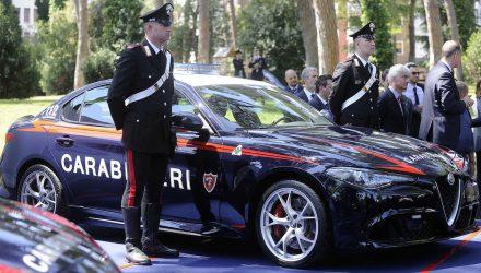 Italian Carabinieri get two Alfa Romeo Giulia QV police cars
