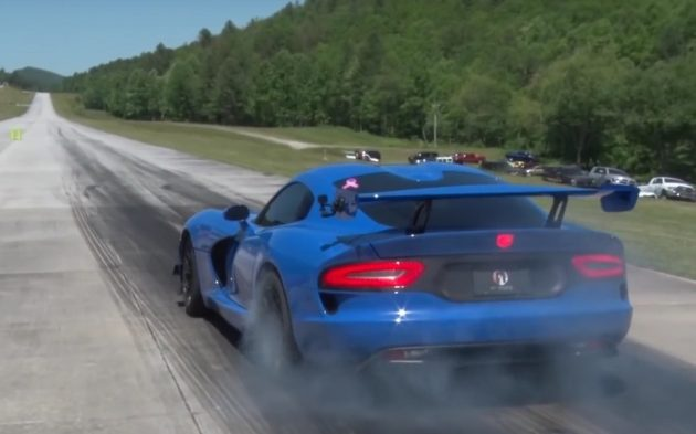 Dodge Viper twin-turbo half-mile record