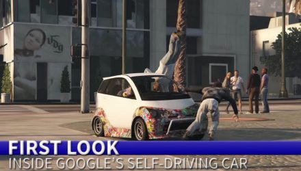 Video: Google car edited into Grand Theft Auto V
