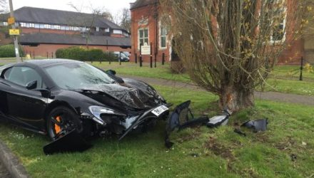 Man takes delivery of McLaren 650S, crashes 10 minutes later