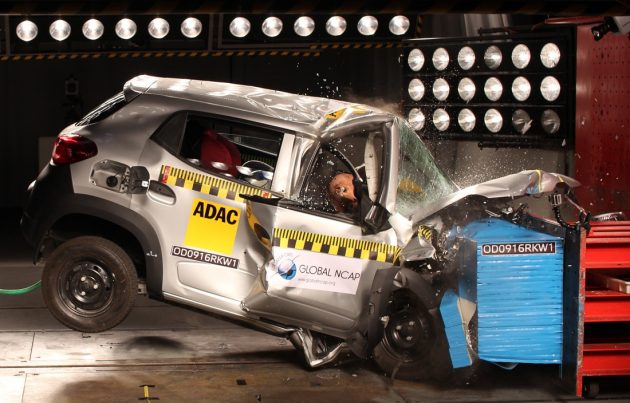 Renault Kwid NCAP crash