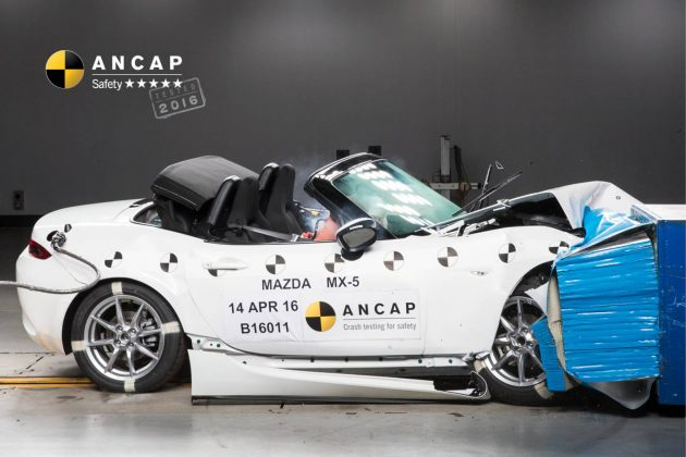 2016 Mazda MX-5 ANCAP crash test