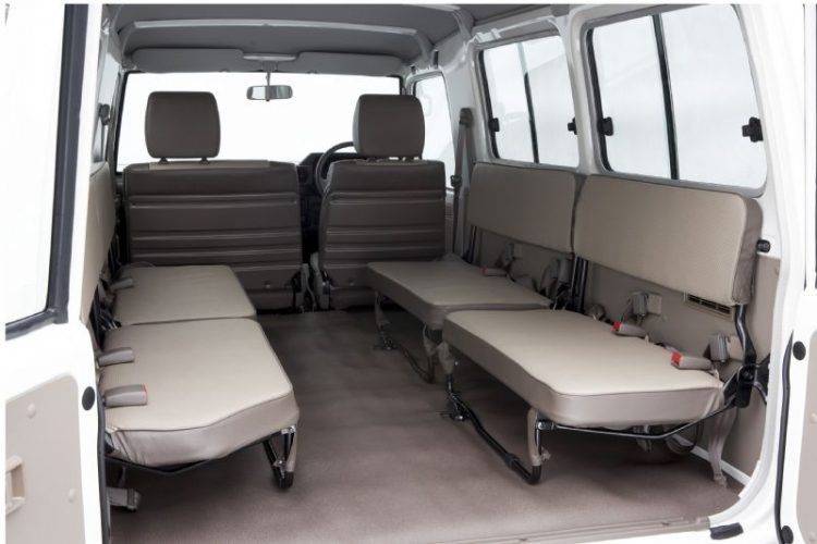 2016 Toyota LandCruiser 70-rear seats