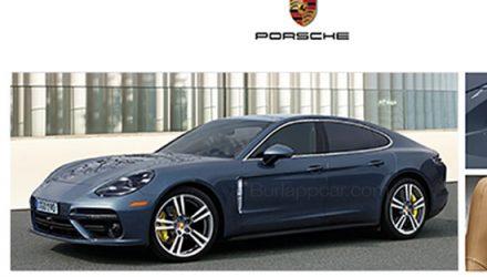 2017 Porsche Panamera leaked via online brochure?