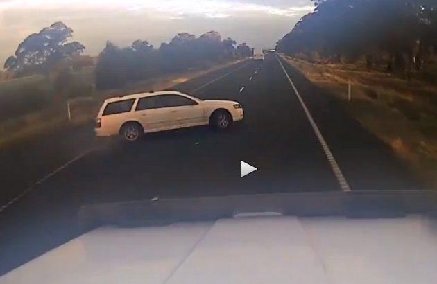 Ford Falcon near-miss dashcam