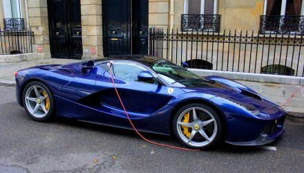 LaFerrari left charging on the streets in Paris – it's not a plug-in