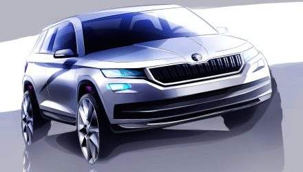 Skoda Kodiaq previewed, all-new seven-seat SUV