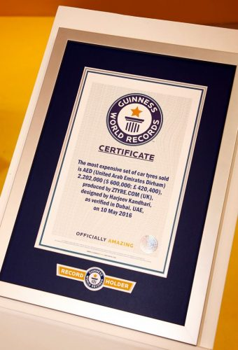 Z Tyre Guinness Record