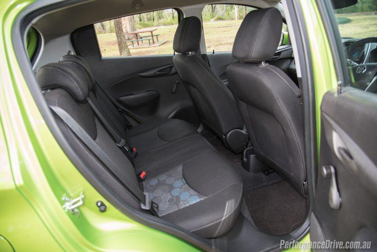 2016 Holden Spark LS-rear seats