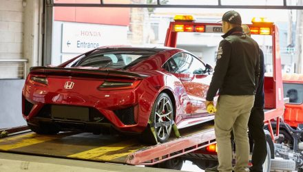 New Honda NSX arrives in Australia for promo tour