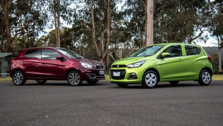 2016 Mitsubishi Mirage vs Holden Spark: City car comparison