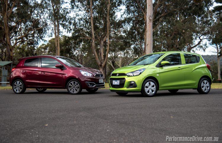 2016 Mitsubishi Mirage vs Holden Spark