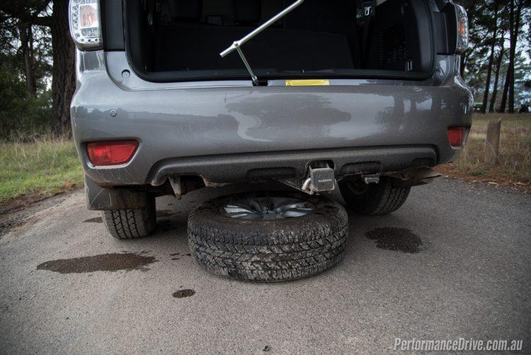 2016 Nissan Patrol Ti-spare tyre