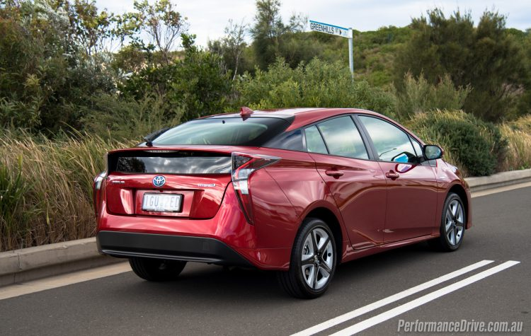 2016 Toyota Prius i-Tech rear