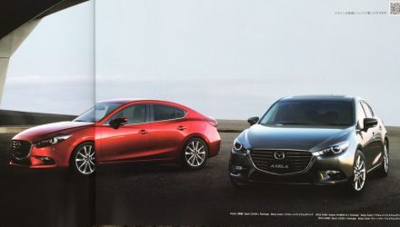 2017 Mazda3 facelift leaked via brochure