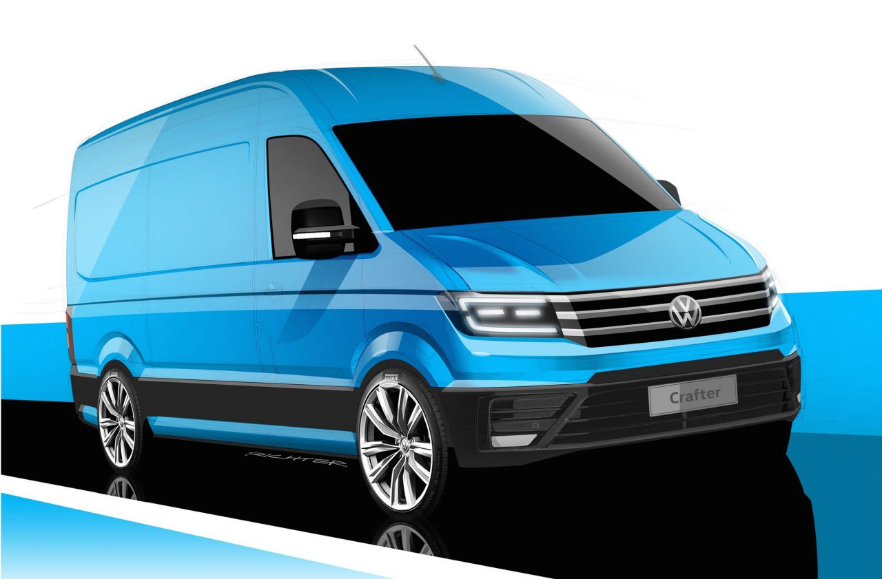 2017 volkswagen crafter previewed gets latest design language performancedrive. Black Bedroom Furniture Sets. Home Design Ideas