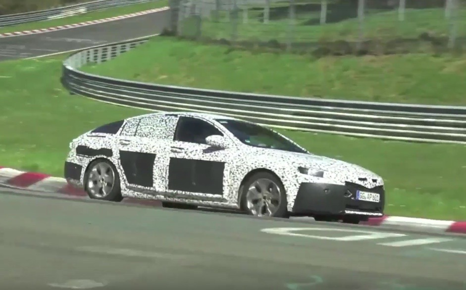 2017 Opel Insignia 2018 Commodore Spotted At Nurburgring