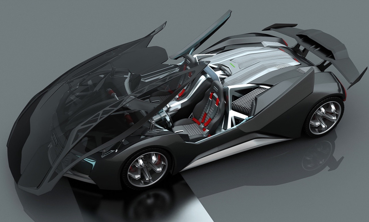designer envisages nuclear powered audi f tron concept performancedrive. Black Bedroom Furniture Sets. Home Design Ideas