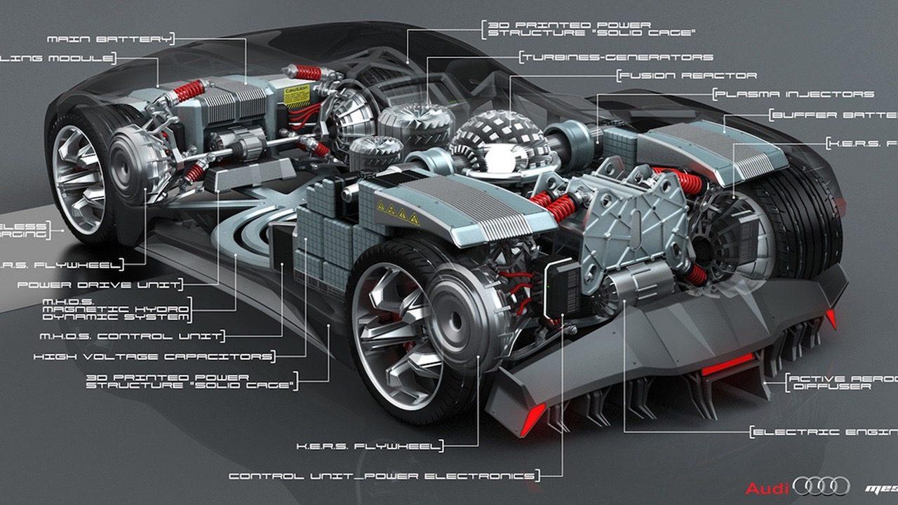 Designer Envisages Nuclear-powered Audi F-Tron Concept