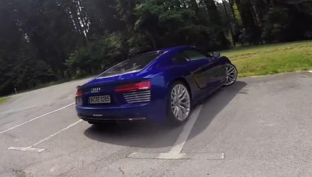 Audi R8 e-tron electric supercar spotted on streets