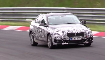 FWD BMW 1 Series sedan / 2 Series Gran Coupe spotted (video)