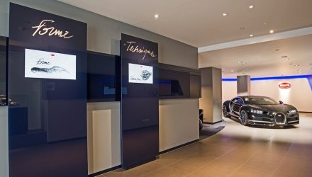Exquisite Bugatti Chiron showroom opens in London