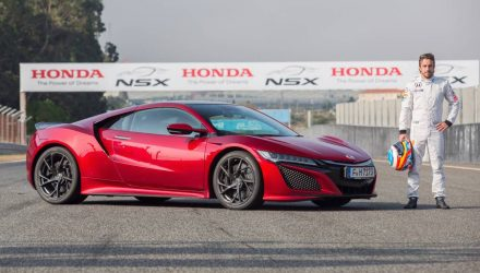 Fernando Alonso tests new Honda NSX at Estoril circuit