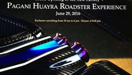 Pagani Huayra Roadster shown to select customers at special event