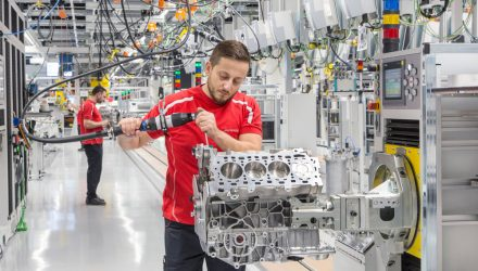 Porsche opens new facility for VW Group V8 production
