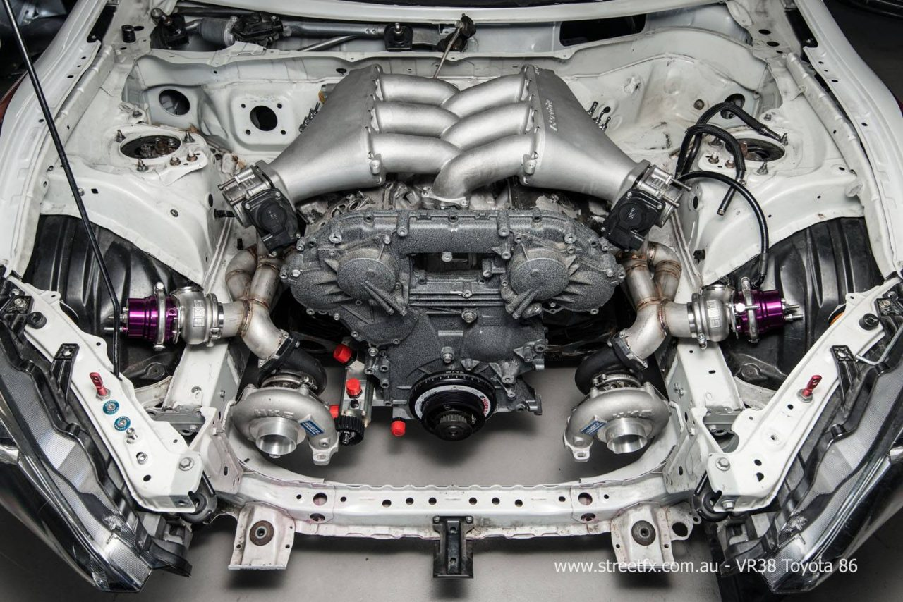 Toyota 86 Gets Crazy Vr38dett Gt R Conversion 1821 on 22re motor