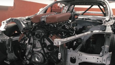 Toyota GT86 getting Ferrari F136 V8 engine conversion