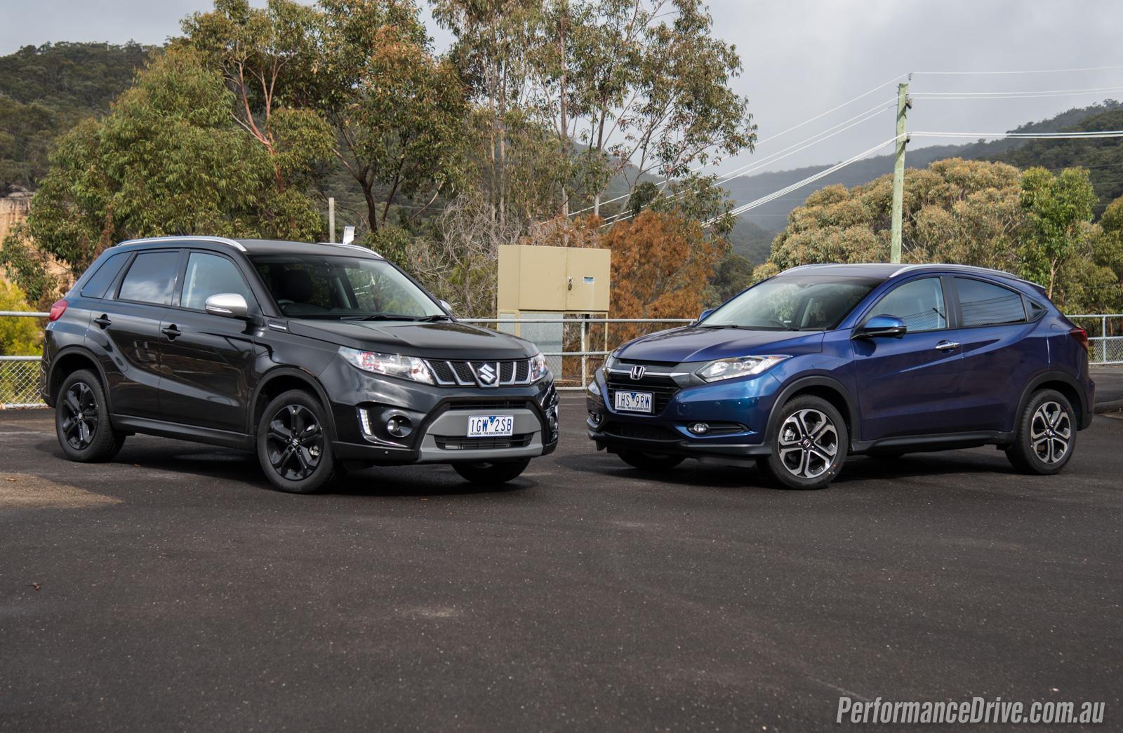 2016 suzuki vitara turbo vs honda hr v small suv for Honda hrv vs honda crv