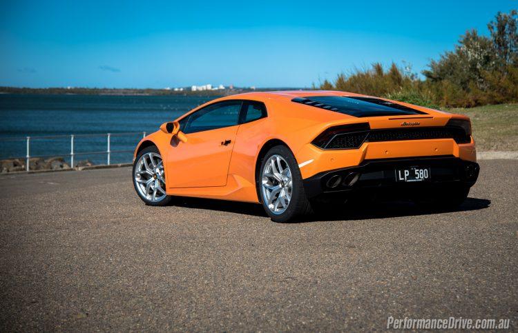 2016 Lamborghini Huracan LP580-2 rear