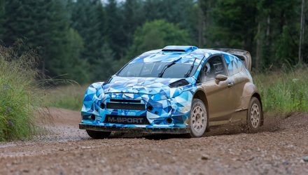 2017 Ford Fiesta RS WRC prototype development hits gravel