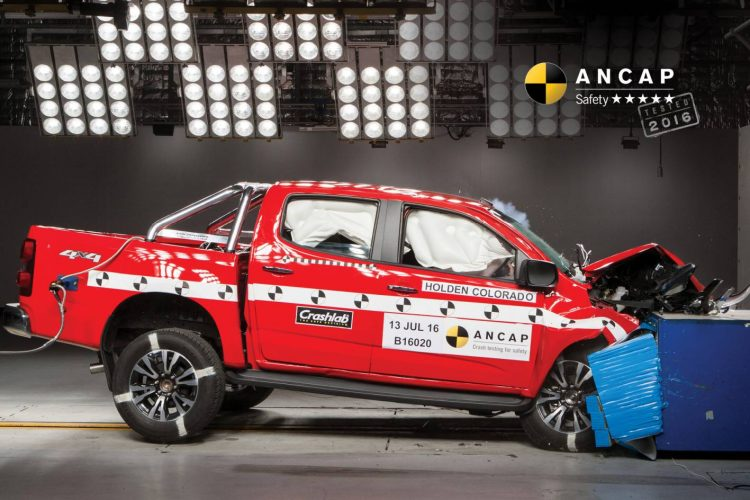2017 Holden Colorado ANCAP crash