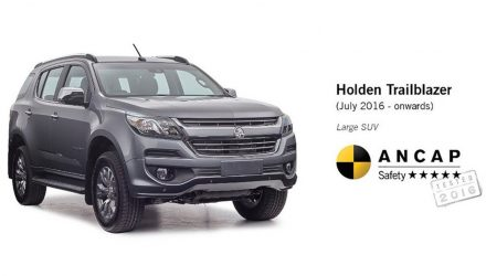 Holden Trailblazer accidentally revealed with ANCAP result