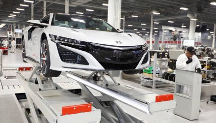 Right-hand drive Honda NSX production begins at Ohio facility