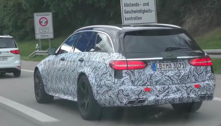 2017 Mercedes-AMG E 63 Estate spotted, Black Series? (video)