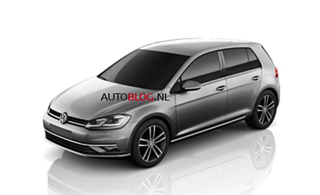 is this the 2017 volkswagen golf facelift performancedrive. Black Bedroom Furniture Sets. Home Design Ideas